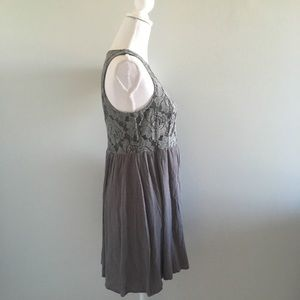 Altar'd State Dresses - Altar'd State Gray Lace Boho Dress